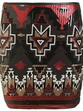 Sequin skirt red