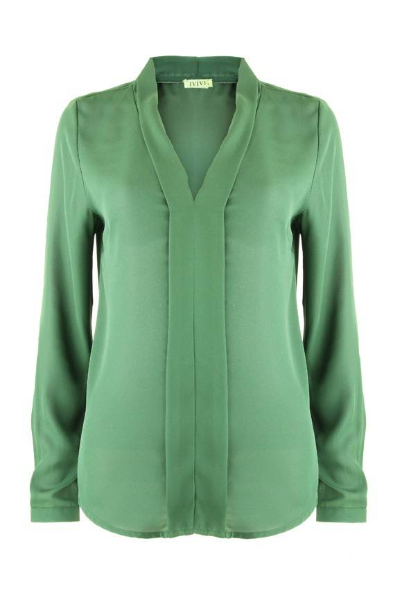 Classy Blouse Green
