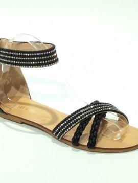 Sandalen Strass Zwart