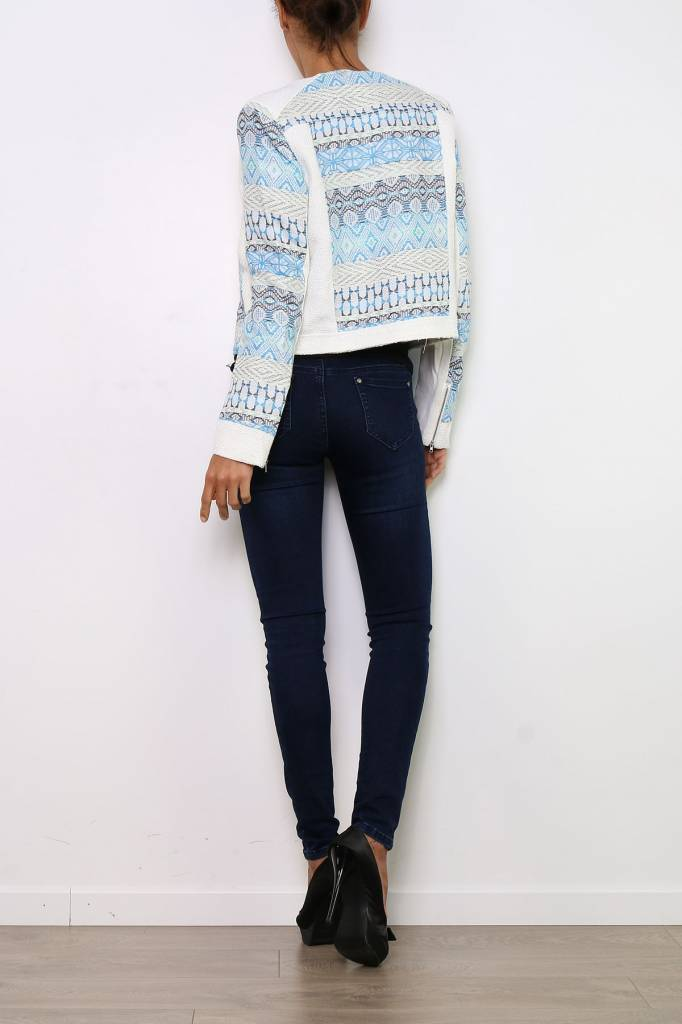 Spring Jacket Blue/White