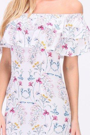 Wit jurkje Flower