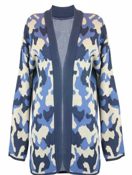 Cardigan Army Blue