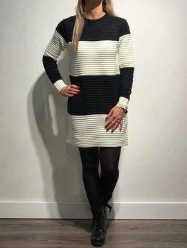 Gebreide jurk Black/White