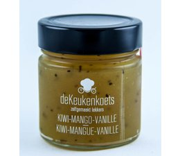 De Keukenkoets Kiwi - Mango - Vanille confituur 285gr.