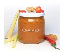 De Pindakaaswinkel Pindakaas met Chilipeper Citroengras 420ml.