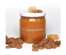 De Pindakaaswinkel Belgische Karamel Chocolade met Pindastukjes