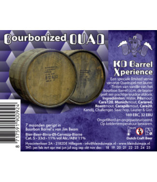 Klein Duimpje Bourbonized QUAD Barrel aged • 11%