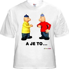 Buurman & Buurman T-shirt WIT A JE TO