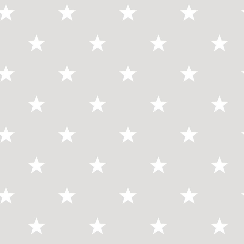 Noordwand sterren behang in grijs wit eigewijz - Wit behang en grijs ...
