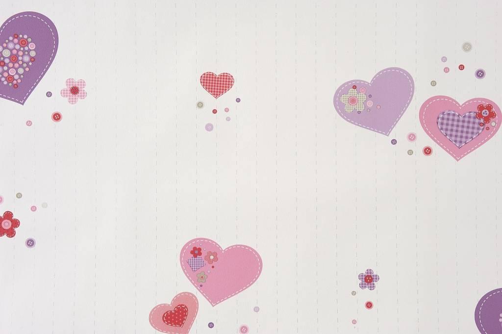 Babykamer Behang Roze : Meer dan 1000 ideeën over Hartjes Behang op ...