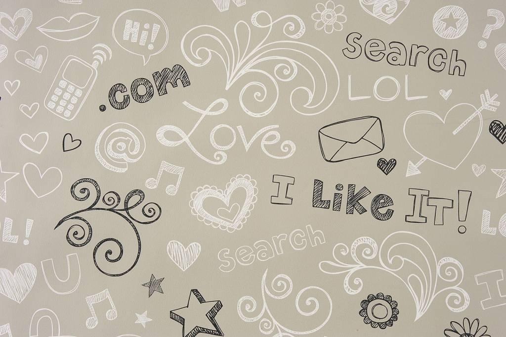 Caselio tienermeiden behang in grijs wit zwart eigewijz - Wit behang en grijs ...