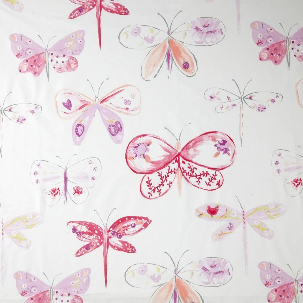 Caselio Vlinderstof in lila paars roze fuchsia - Eigewijz
