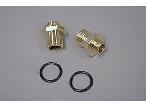 Nefit Aansluitnippel gasblok + o-ring 73209 Set a 2 stuks
