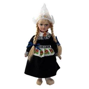 Typisch Hollands Pop in traditionele kleding (zwart) 26 cm