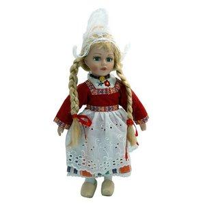 Typisch Hollands Puppe in traditioneller Kleidung (rot) 26 cm