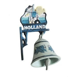 Typisch Hollands Gietijzeren Bel (Delfts)