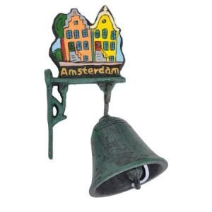 Typisch Hollands Gietijzeren Bel (klein) Amsterdam
