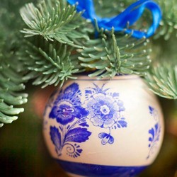 Kerstballen (Delfts Blauw)