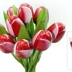 Tulpen aus Holz (Bouquet)