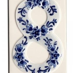 Delfts Blauwe Huisnummers