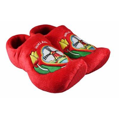Typisch Hollands Typisch holländisch - Clog Slippers - rot
