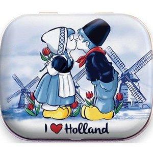 Typisch Hollands Blikje Mini Mints - Kuspaar Holland