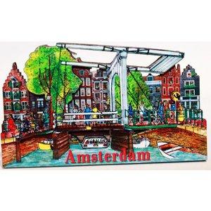 Typisch Hollands Magnet Amsterdam Magere Brug
