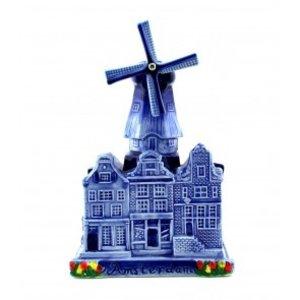 Typisch Hollands Stadtmühle Delfter Blau
