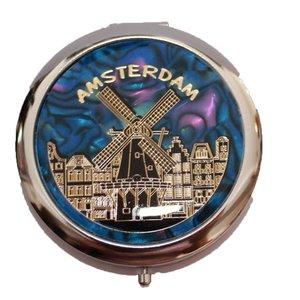 Typisch Hollands Spiegeldoos Amsterdam (molen)