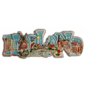 Typisch Hollands Magnet Text Holland