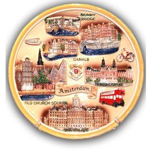 "Typisch Hollands Wandbord ""Highlights Amsterdam"""