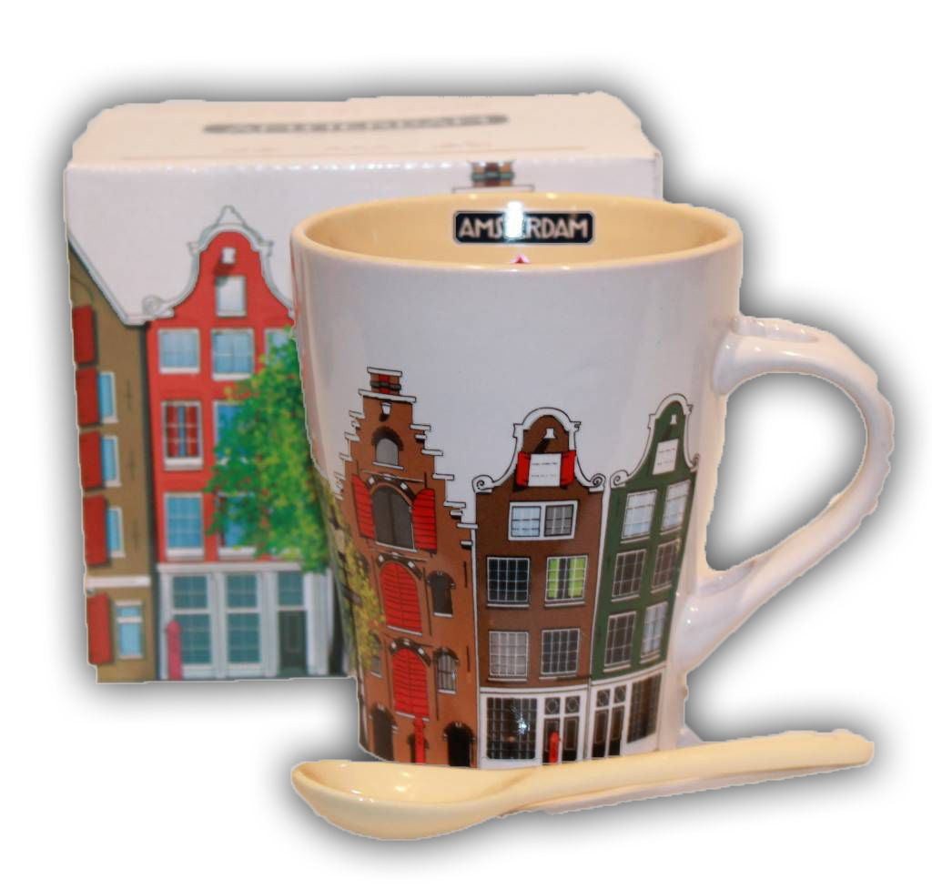 typisch hollands becher mit l ffel amsterdam typisch hollands souvenirs online shop. Black Bedroom Furniture Sets. Home Design Ideas