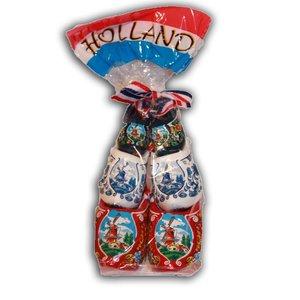 Typisch Hollands Houten Souvenirklompjes 3st in zakje