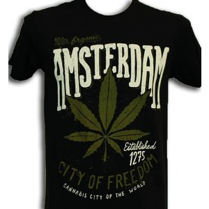 Typisch Hollands Cannabis Items T-Shirt Amsterdam - Cannabis