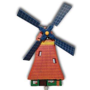 Typisch Hollands Wooden Windrad auf Stick