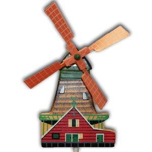 Typisch Hollands Houten Molentje op stok