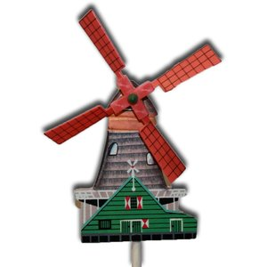 Typisch Hollands Molentje auf Holzstäbchen