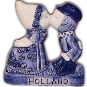 Typisch Hollands magnet Kissing Couple