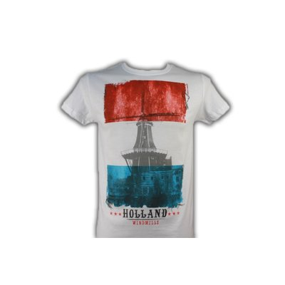 Kemme Textiles T-Shirt Vlag -Nederland - Holland