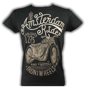 Typisch Hollands Biker T-Shirt Amsterdam