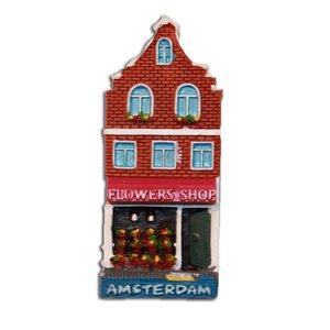 Typisch Hollands Magneet Gevelhuisje Flowershop