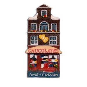 Typisch Hollands Magneet Gevelhuisje Chocolaterie