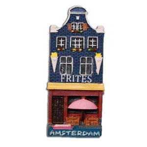 Typisch Hollands Magneet Gevelhuisje - Frites