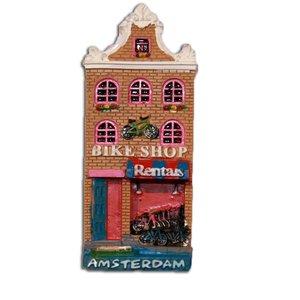 Typisch Hollands Magneet Gevelhuisje Bike Shop