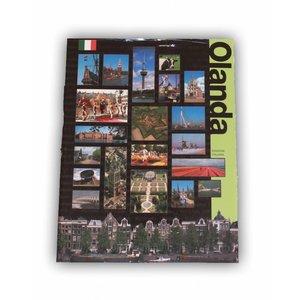 Typisch Hollands Boek Holland in vogelvlucht - Italiaans