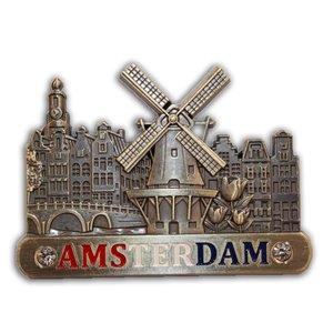Typisch Hollands Magnet (metal) Amsterdam Holland