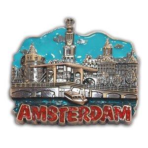 Typisch Hollands Magnet Amsterdam (Metall)