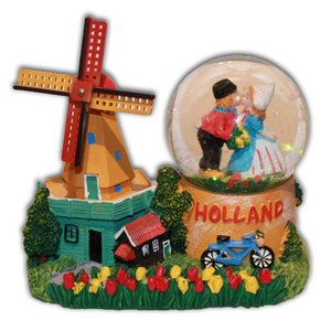Typisch Hollands Schnee schudbol Holland - Windmühle