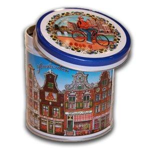Stroopwafels (Typisch Hollands) Blik Stroopwafels Gevelhuisjes