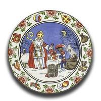 Typisch Hollands Wandbord Sinterklaas Kleur